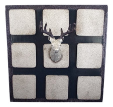 Cork-board Deer Head Silver Navy Blue Message Reminder Board Wood Organi... - $39.99