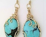Turquoise gold wire wrap earrings 6 thumb155 crop