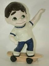 Atlantic Mold Ceramic Skate Board Boy Mighty Moe Vintage Figurine - $36.58