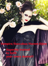 spr Sexy Female Vampire Succubus Harem Tantric Trained + Prosperity & Lo... - $200.00