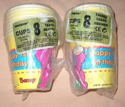 Barney (Happy 1st Birthday) Hot / Cold Cups - $12.82