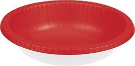 20 Count Paper Bowl, 20 oz Creative Converting Touch of Color - red - £3.00 GBP