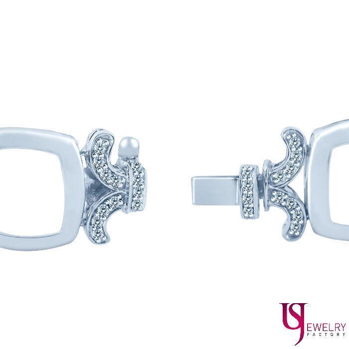 """1.80 Ct Round Diamond XOXO Link Design Women's Bracelet 14k White Gold 7.25"""""""