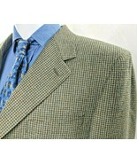 CANALI Mens 54L EU, 44L US Houndstooth Super 120s Wool 3 button, Surgeon... - $86.89