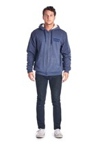 NEW LEVI'S MEN'S PREMIUM SHERPA CLASSIC COTTON HOODIE JACKET SWEATER BLUE image 2