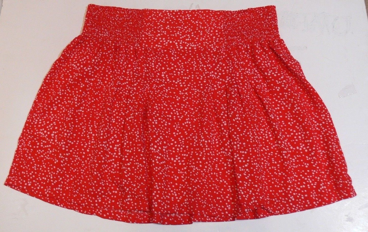 caef6aa6d8 GAP Women's Red White Dots Rayon Mini Skirt and 50 similar items