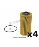 BMW (93-03 8cyl) Engine Oil Filter Kit (4) MANN NEW + 1 YEAR WARRANTY - $52.85