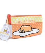 Sanrio Gudetama Stationery Bag Cosmetic Zipper Case NWT  - $8.55