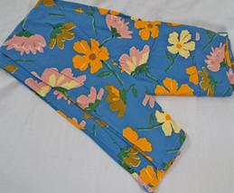 Women's LuLaRoe OS One Size Leggings Blue Large Flowers  New - $25.24