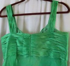 Anne Klein Dress 10 Green Strap V Neck Knee Length Cocktail Party Silk image 7