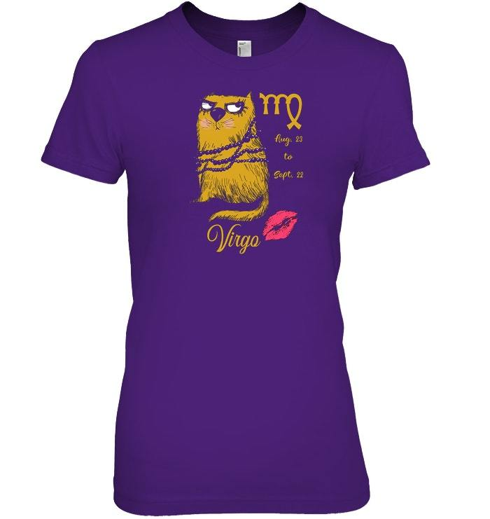 Funny Zodiacs For Cat Lovers Tshirt   Virgo image 3