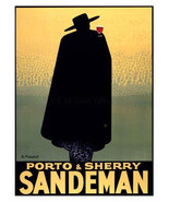 Porto & Sherry, Sandman Advertisement by Georges Massiot, 1931, Wine 8x1... - $11.99