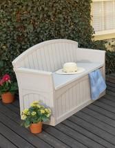 Premium Bench Storage Toys Cushions Tools Garden Patio Backyard Stylish ... - $161.99