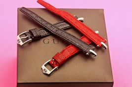 New Gucci 12 MM Watch Lizard Watch Band - for 1800 L - Regular - Silver Hardware - $23.95+