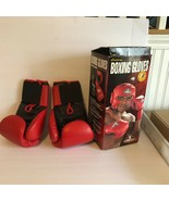 """Century Boxing Gloves in Original Box Red 3.5"""" Wide Hook Moisture Absorb... - $27.48"""