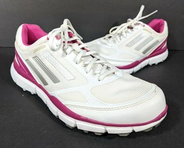 Adidas Adizero Sport II 2 Spikeless Golf Shoes Womens Size 7.5 White Pin... - $36.23