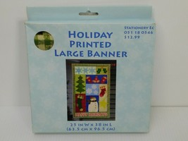 """Christmas Garden Flag Holiday Printed Large Banner 25""""x38"""" 100% Polyester - $10.64"""