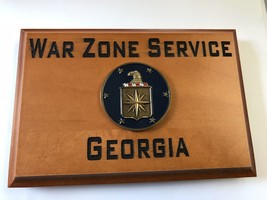 Central Intelligence Agency War Zone Service Georgia Beveled Edge Wall P... - $49.49