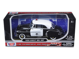 1950 Chevrolet Bel Air Police 1/24 Diecast Model Car by Motormax - $39.19