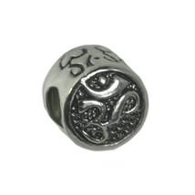 HOT Sterling Silver 925 Hindu Om Yoga Tibetan Buddhism Jewelry charm European be - $17.40