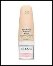 Almay Best Blend Forever Makeup SPF 40 100 Porcelain 1oz 30 ml New! - $7.06