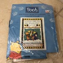 Pooh Snowy Day Sampler Cross Stitch Kit (No Fabric) Holiday Winter Alphabet LA - $9.38