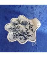 Blue Danube Shell Shaped Dish Blue Onion Pattern #99183 3-Fold Ribbon Mark - $28.44
