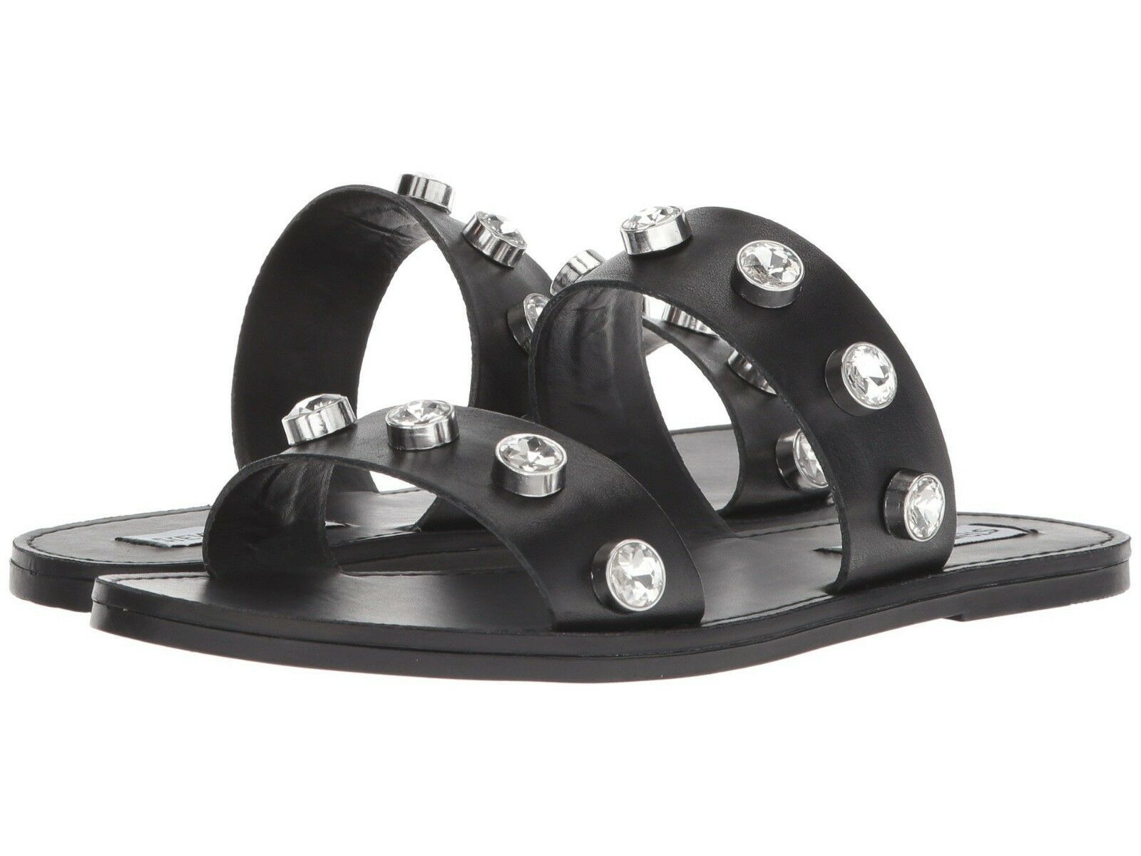 Steve Madden JESSY Slide Flats Sandals Black Women Size 7.5
