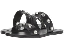Steve Madden JESSY Slide Flats Sandals Black Women Size 7.5 - $68.98