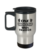 MMA Fighter Travel Mug - One Rock Star - 14 oz Insulated Coffee Tumbler ... - $19.95