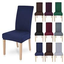 Polyester Spandex Fabric Stretch Dining Room Chair Seat Covers Slipcovers 1/2/4/ - $25.74