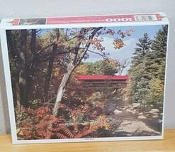 "Whitman 1000 Piece Puzzle 21.5"" x 27.5"" Forest Bridge New Sealed Box - $16.07"