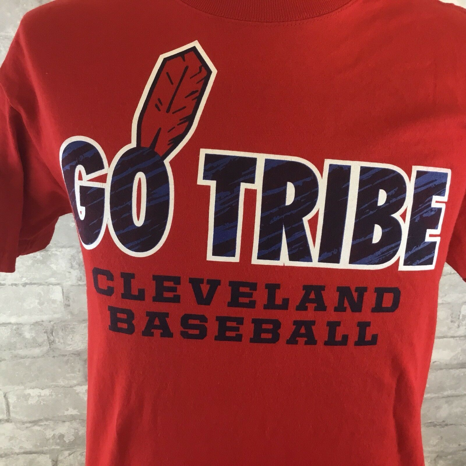 Primary image for Mens Jansport Cleveland Indians Baseball Chief Go Tribe Short Sleeve T-shirt