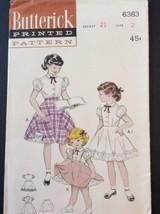 Butterick Sewing Pattern 6383 Vtg Girls Blouse Slip Skirt Sz 2 Breast 21... - $14.60