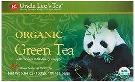 Uncle Lee's Organic Green Tea -- 100 Tea Bags net wt 5.64 oz (160g) - $13.36