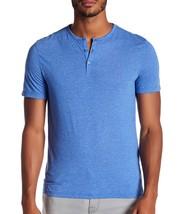 John Varvatos Star USA Men's Short Sleeve 3 Button Henley Crew Shirt Wav... - $1.041,68 MXN