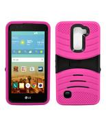 LG K10 / Premier LTE Hybrid Silicone Case Cover Stand - $12.99