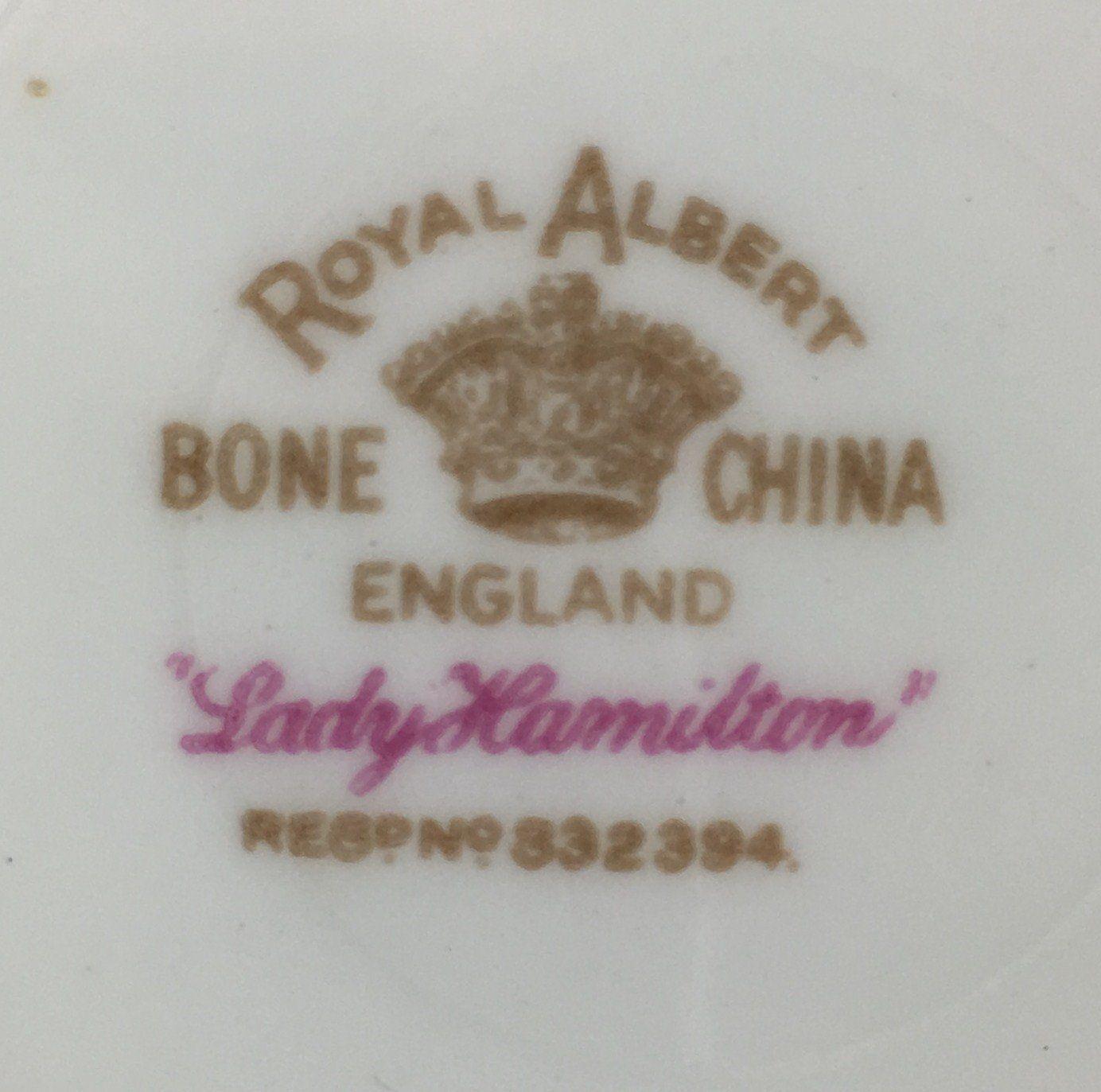 Royal Albert Lady Hamilton Saucer for Demitasse Cup