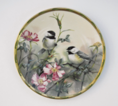 Lenox Plate Nature's Collage Rose Morning 1992, 24K Gold, Birds Collecto... - $36.00