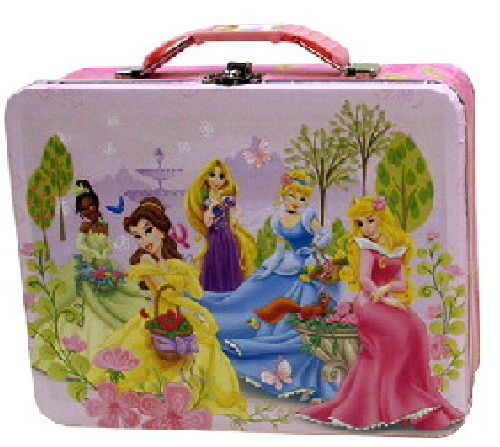 Walt Disney Princesses Large Carry All Tin Tote Lunchbox Style A NEW UNUSED