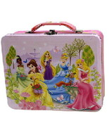 Walt Disney Princesses Large Carry All Tin Tote Lunchbox Style A NEW UNUSED - $16.40