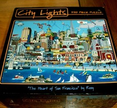 Jigsaw Puzzle 750 Pieces San Francisco Fishermans Wharf Comic Art 3 Pcs ... - $11.87