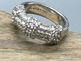 Judith Ripka Sterling Silver and CZ Band Ring in a Size 7 - $69.30