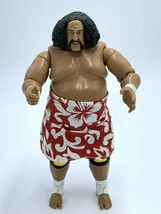 "WWE Wild Samoa Action Figure With Removable Skirt 2004 Jakks Pacific 7"" - $18.99"