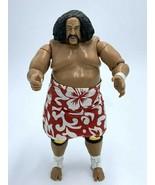 "WWE Wild Samoa Action Figure With Removable Skirt 2004 Jakks Pacific 7"" - $18.99"