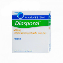 Magnesium Diasporal 400 mg 20 PACKAGES Treat And Prevent Magnesium Defic... - $29.60