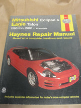 HAYNES 1995-2001 MITSUBISHI ECLIPSE & EAGLE TALON REPAIR MANUAL 68031 - $8.99