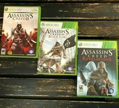 Microsoft Xbox 360 Assassins Creed Black Flag Revelations Video Game Bun... - $15.83