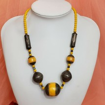 VTG African Trade Bead Phenolic Resin Necklace Faturan Faux Amber Beads - $199.97