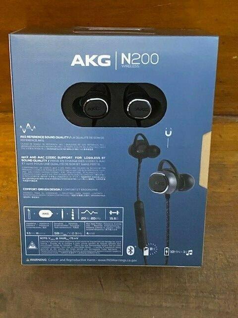 AKG N200 Wireless Bluetooth Earbuds - Black Brand New